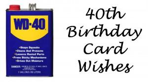 Happy 40th Bir...