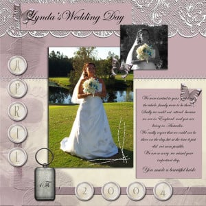 Weddings – Scrapbooking: Free Printable Scrapbook Pages and