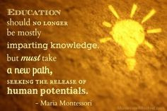 Education should no longer be mostly imparting knowledge, but must ...