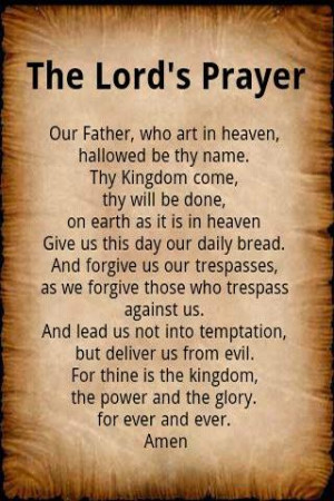 Lords Prayer Bible Quotes About Quotesgram