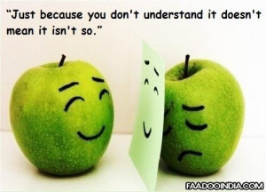 Just because you don't understand it doesn't mean it isn't so.