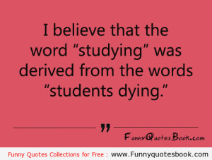 Funny Fact about Student Life