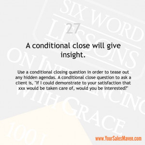 Sales Tip from the book Six Word Lessons on Influencing with Grace by ...