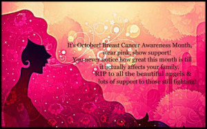 It's October! breast cancer awareness month , wear pink, show support ...