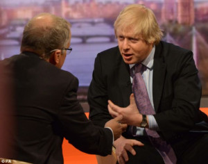 The Mayor told Eddie Mair, standing in for Andrew Marr, that he would ...