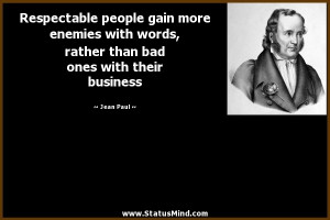 ... than bad ones with their business - Jean Paul Quotes - StatusMind.com