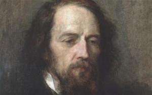 Alfred Tennyson's portrait by George Frederic Watts. Tennyson's words ...