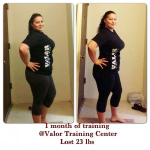 Torres Lost 23 lbs in 1 month at Valor Training Center