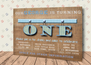 ... , digital first birthday invitation, 1rst birthday, turning one