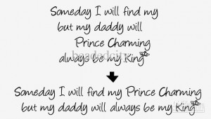 ... 10pcs Daddy be My King girl's room Vinyl Wall Saying Quote Decals