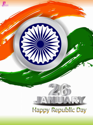 Happy 26 January Indian Republic Day Wishes Messages Fag Card Image ...