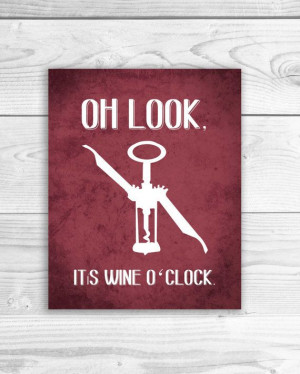 Wine Art Print Kitchen Sign Wine Quote Wine by SmartyPantsStudio, $16 ...