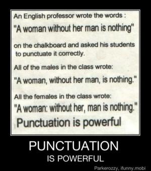 Punctuation matters!!!!