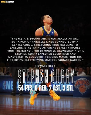 masterful performance by Stephen Curry, brilliantly described by ...