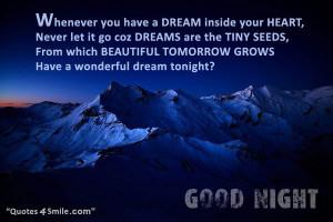 Have A Wonderful Dream Tonight
