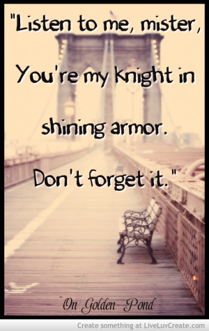 My Knight In Shining Armor Quotes