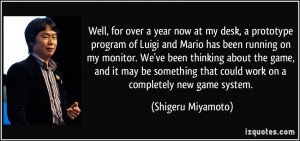 ... game, and it may be something that could work on a completely new game