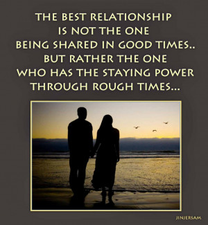 ... The One Being Shared In Good Times Quote With The Picture Of A Couple
