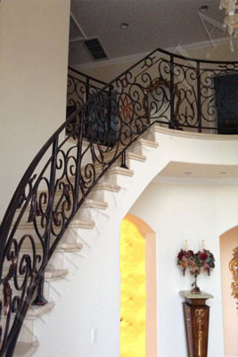 0001-H.A-JR-Wrought Iron-Railing-Stair Metal Railing