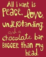 Peace, Love & Chocolate..☮