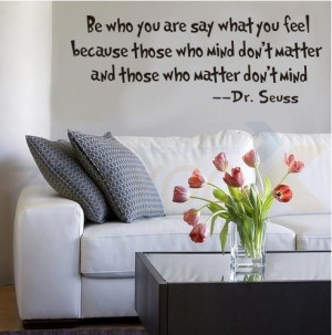 Be Who You Are What You Feel quote wall decals ZooYoo8075 decorative ...