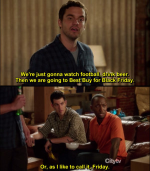 Nick: We're just gonna watch football, drink beer. Then we are going ...
