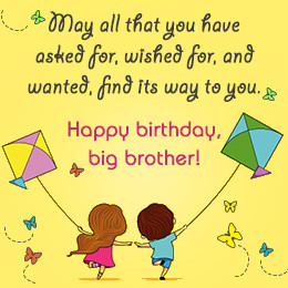 Happy birthday wish for brother