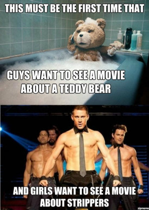 This must be the first time that – guys want to see a movie about a ...