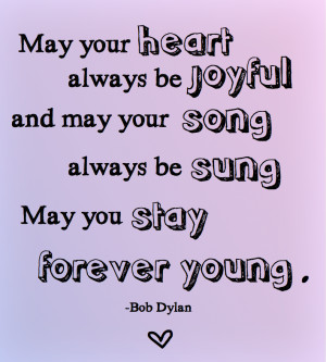 Something Forever Young: Bob Dylan, Meet Juliet