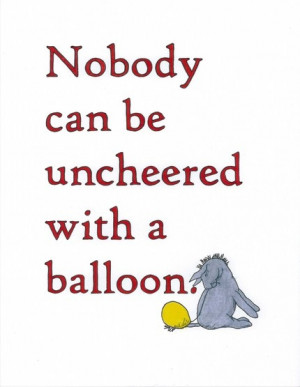 Love it! Two of my favorite things Eeyore and Balloons. :-)
