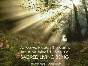Mother earth saying sun rayed path