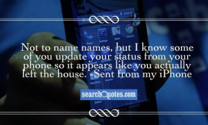 ... status from your phone so it appears like you actually left the house