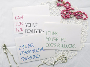 Funny Blank Cards with British Sayings, Card for Friend, British ...