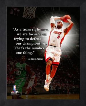 Miami Heat LeBron James Framed Pro Quote