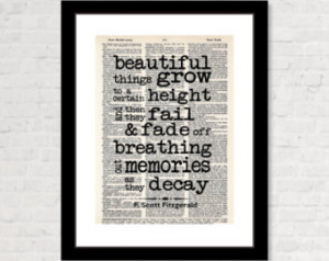Scott Fitzgerald Quote - The Beautiful and Damned - Beautiful ...