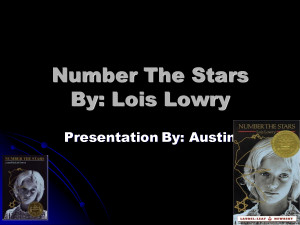 number the stars by lois lowry essay Number the stars essay topics will get learners complete set of literary analysis activities for getting the most out of teaching number the stars by lois lowry.