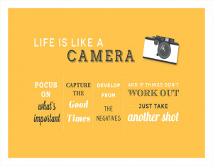 Life is Like a Camera... - Quote Canvas Print