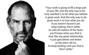Tuesday Quotes For Work Steve-jobs-dont-settle-quote