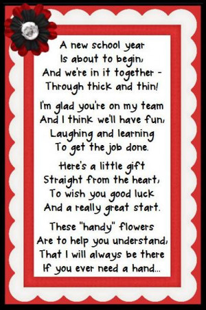 ... free to use the poem if you're giving a back to school gift to a