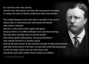 THEODORE ROOSEVELT Leadership Quotes