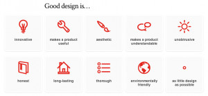 ... design works and it quotes dieter rams ten principles of good design