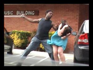 of course it's a black man hitting a white woman