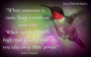 Keep a smile on your face. Joel Osteen.