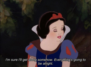 classic, cute, disney, quote, snow white, vintage