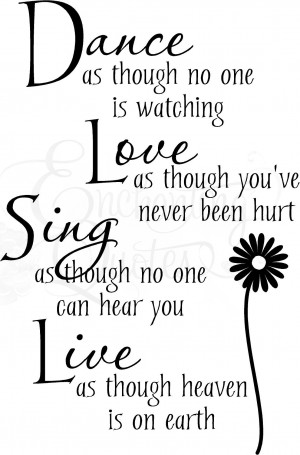 dance love sing live vinyl wall decals item dancevr01 regular price $ ...