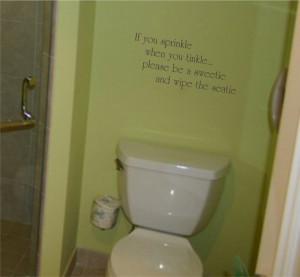 If You Sprinkle wall decal - bathroom
