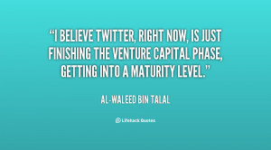finishing the venture capital phase getting into a maturity level