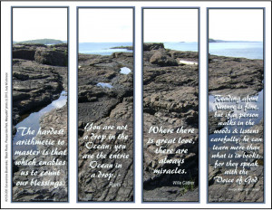 Bookmarks-Black Rocks -w- quotations (2124-FMN Bookmarks)