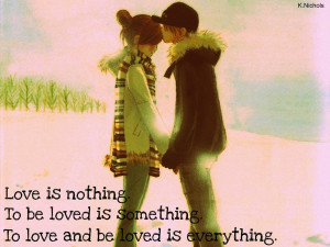 Anime couple love quote by KendalLee