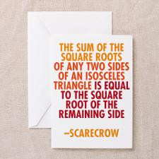 Scarecrow Math Quote Greeting Card for
